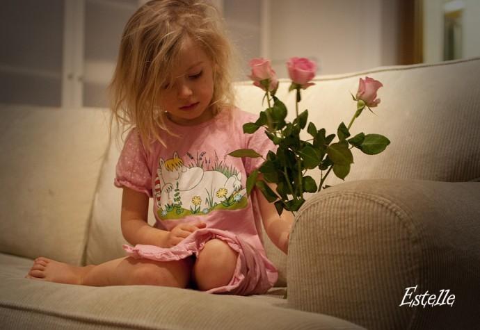 N med rosor