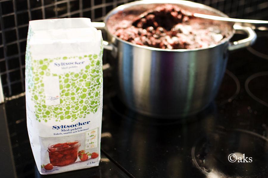 lättsockrad blåbärssylt recept