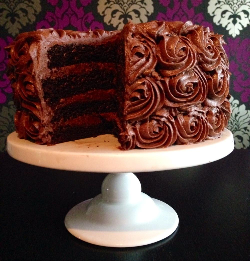 fyllning i chokladtårta