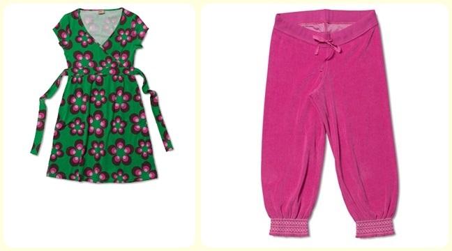 En härligt grön klänning tunika med rosa bruna blommor 9ffb54f0d35d6