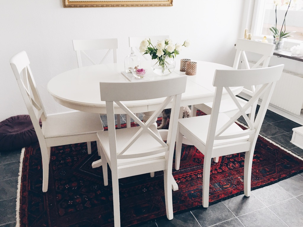 Ikea ingatorp runt bord