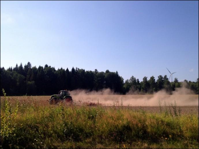 En traktor på Torsö