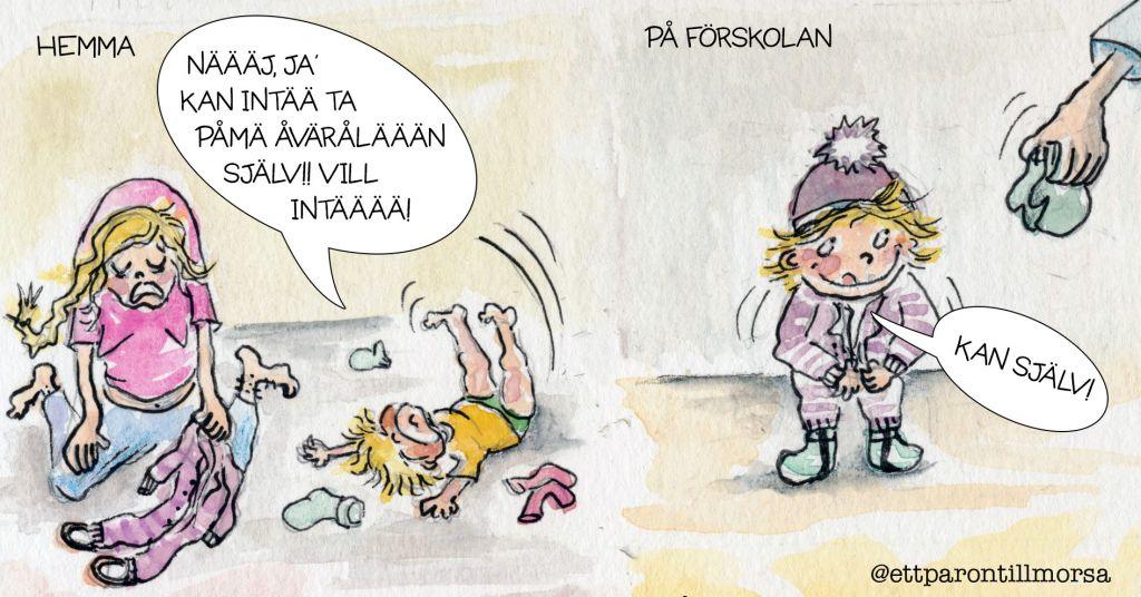 Hemma vs Förskolan