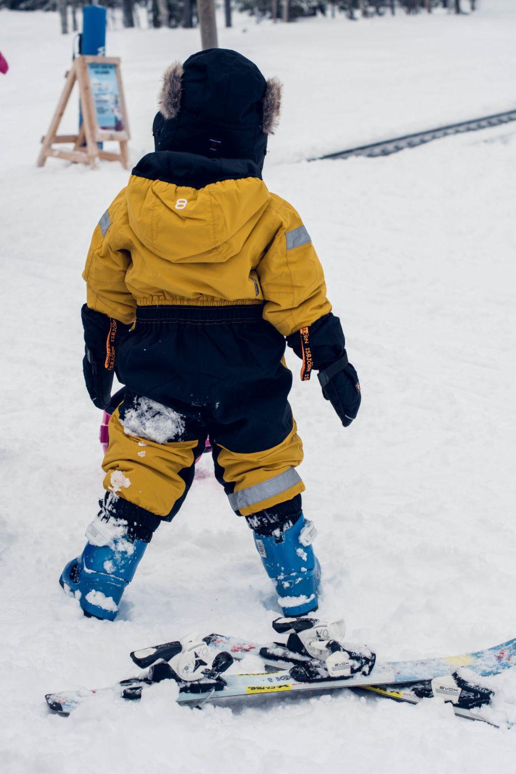 Att lära barn åka skidor