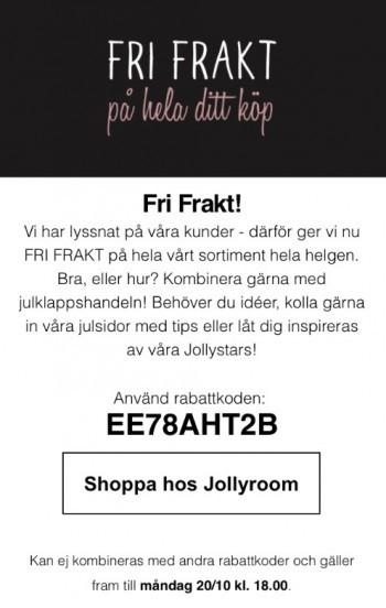 jollyroom fri frakt 2018