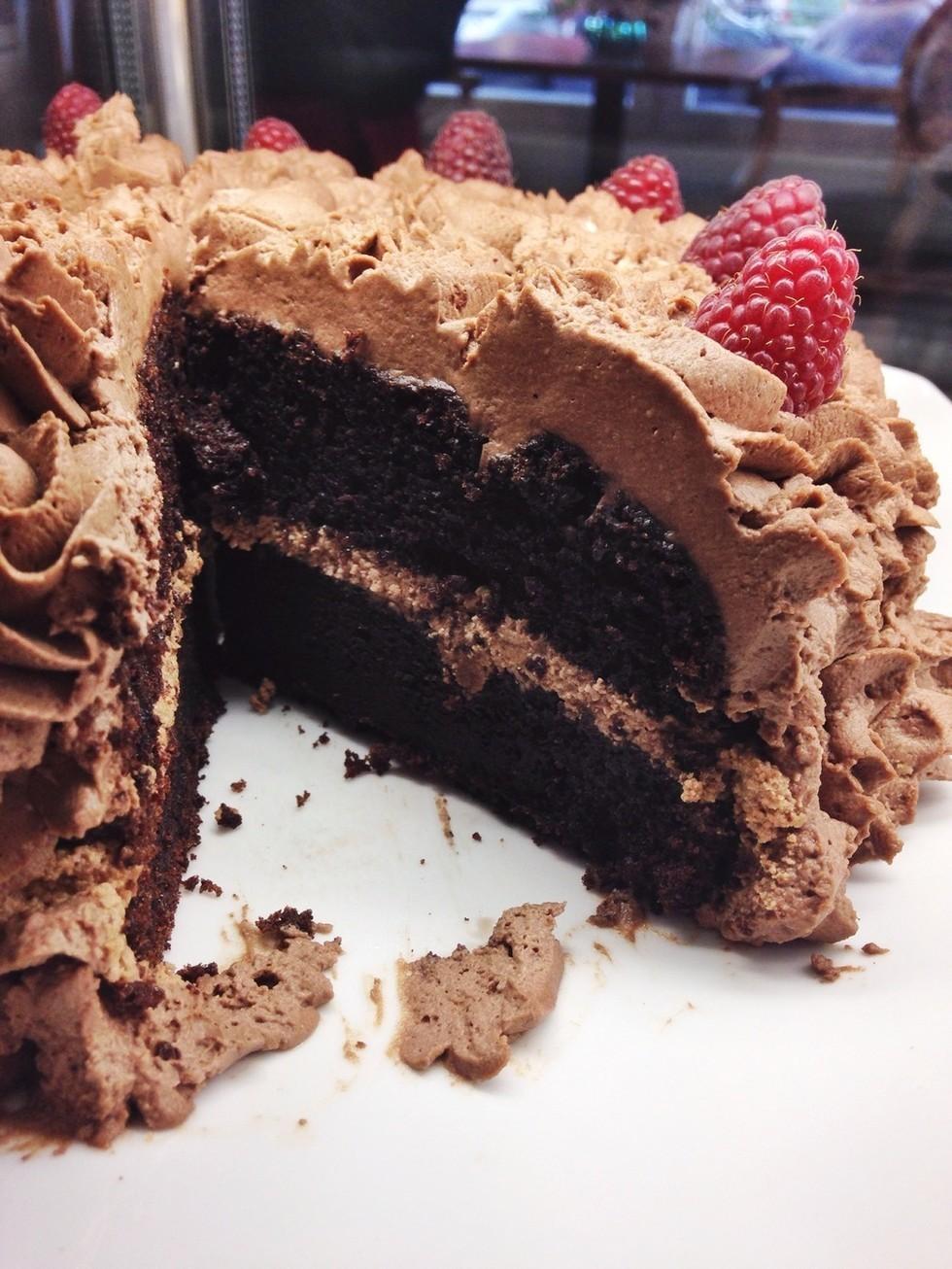 chokladfyllning till tårta