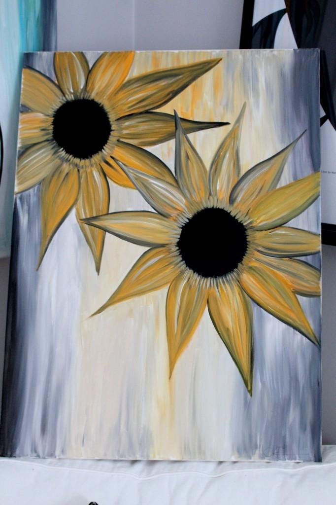 målning_konst_solrosor