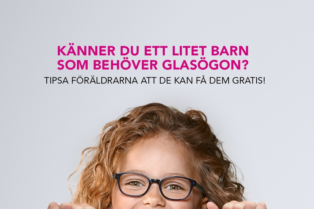 gratis glasögon barn vänsterpartiet