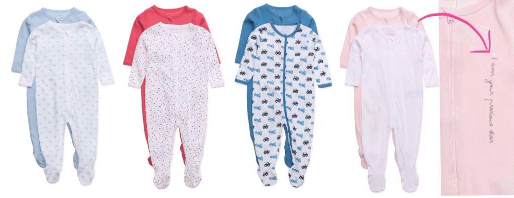 pyjamas med fötter baby