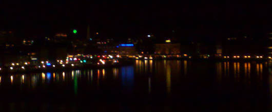 Stockholms nattvy från Söder.