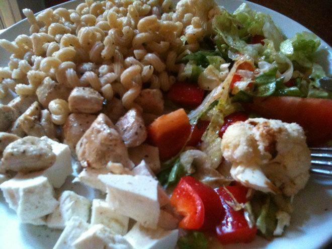 Gårdagens middag, nästan som dagens lunch.