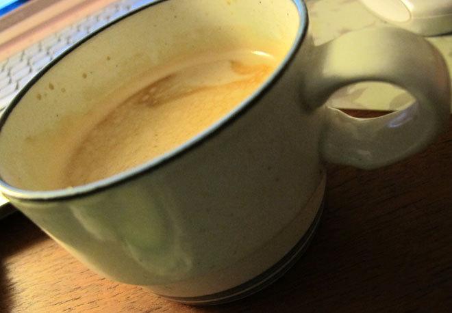 Morgonkaffe.