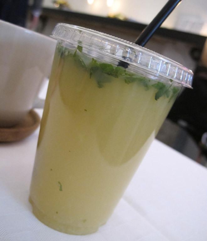 Färskpressad juice.
