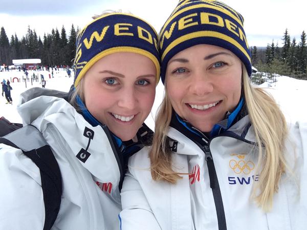 Emelie Wikström och Frida Hansdotter