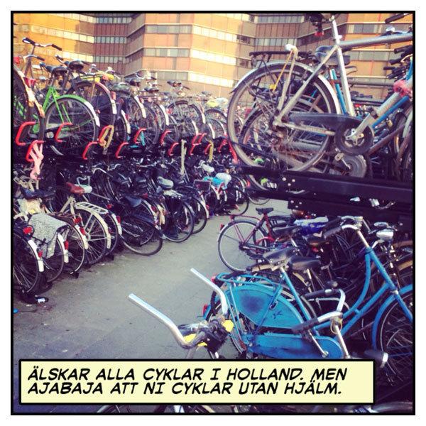 Cykla utan hjälm