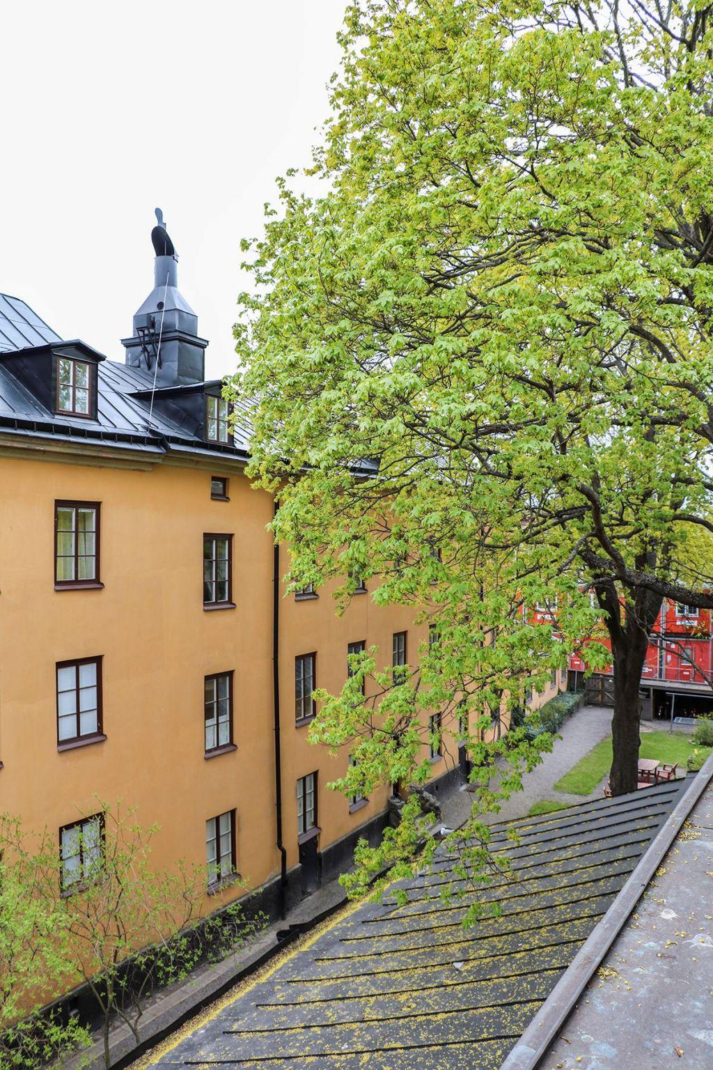 Vid takåsen ett stenkast från Gröna Lund
