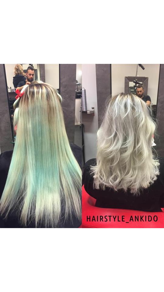 få bort blått hår