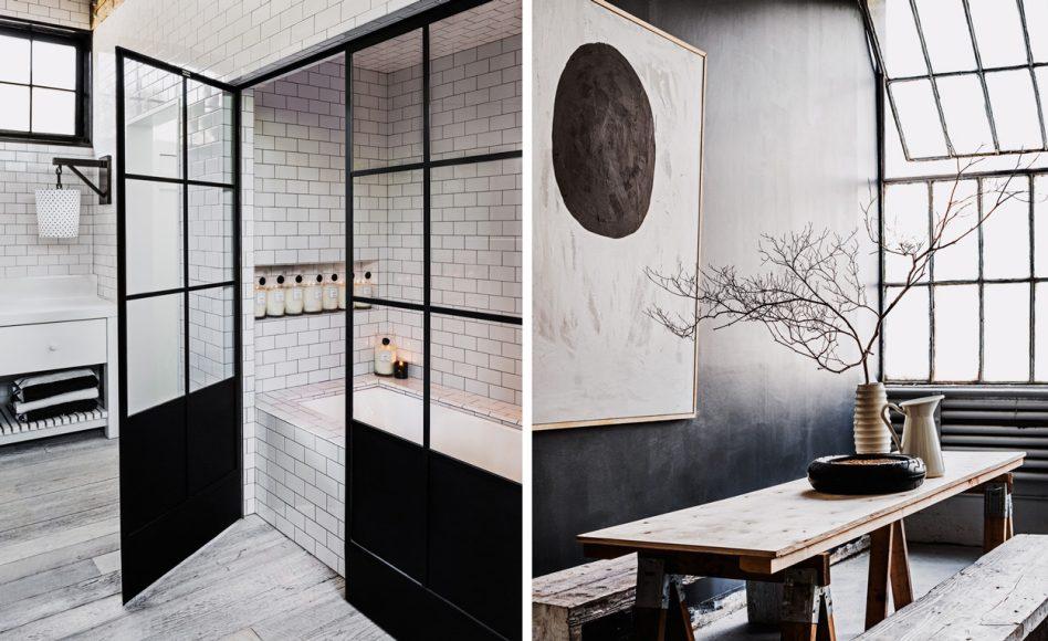badrum-inspiration_svart-duschvägg-industriellt_betong-tvättställ_hemma-hos-diane-keaton_foto-lisa-romerein_the-house-that-pinterest-built_badrumsdrommar_feature-948x580