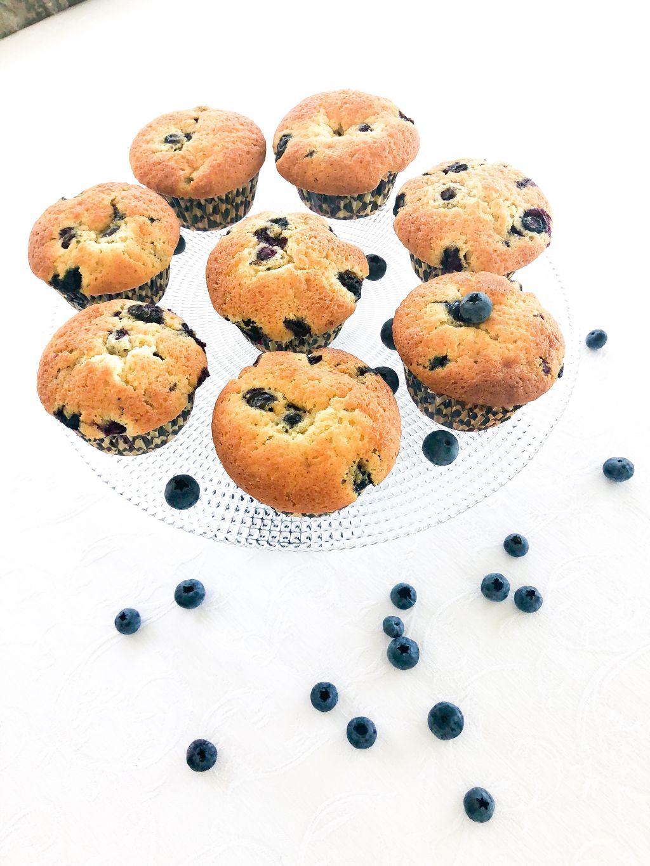 amerikanska blåbärsmuffins