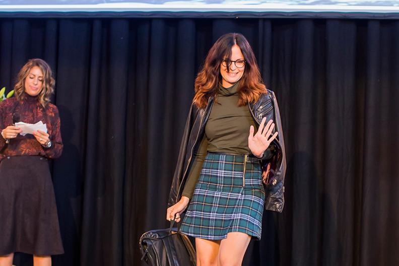 LOPPIevent Höststart 2015 - LOPPI:s toppbloggare Elisabet Lindroth på modevisningen