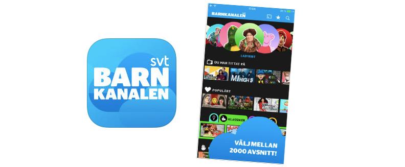 I Barnkanalens app kan du streama massor med barnprogram
