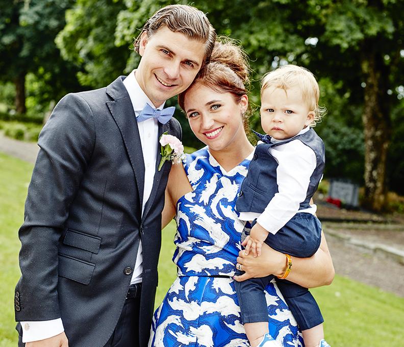 Johanna Kajson med sin gulliga familj!