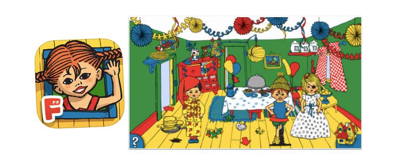 Besök Pippi Långstrump och Villa Villerkulla i Pippi Långstrump-appen!