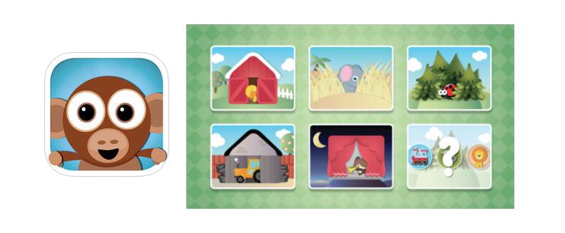 Appen Tittut för småbarn är en rolig pekbok för små barn