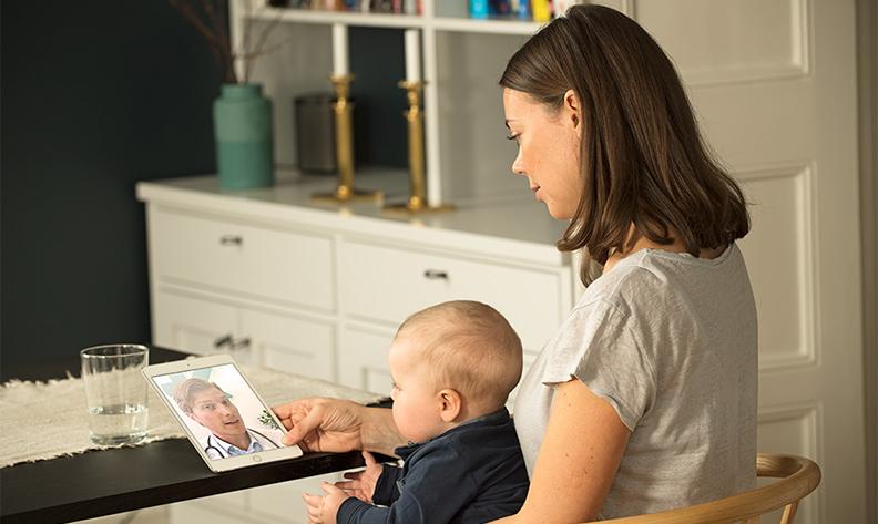 Få kontakt med läkare direkt i telefonen - och få hjälp både för dig och ditt barn!