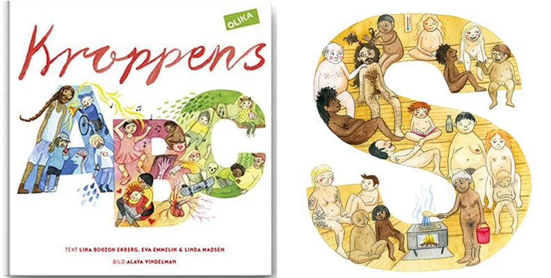 barn bok kroppens ABC