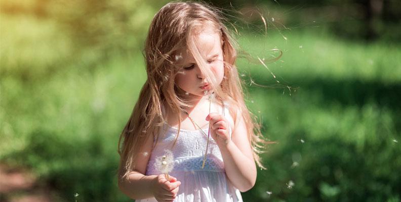 pollenallergi eller forkylning barn