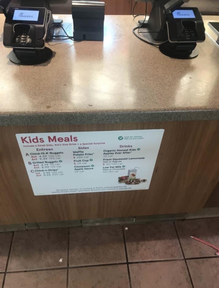Barnmeny för barn