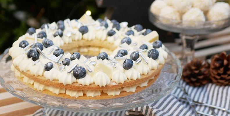 recept lyxig blåbärstårta